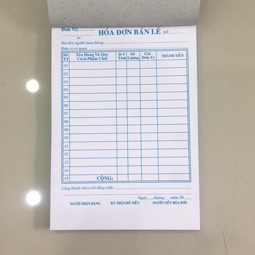 Combo 10 cuốn Hoá đơn bán lẻ 2 liên - 13 x 19cm