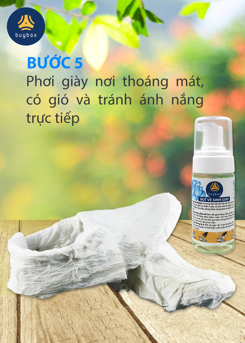 Bọt vệ sinh giày và giặt giày (150ml) - buybox - PKBB60