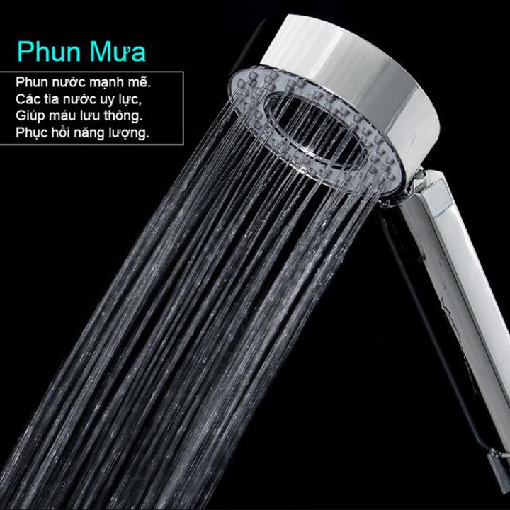 Vòi sen tăng áp 2 chế độ phun Có ngăn chứa sữa tắm dầu gội hoặc thảo dược
