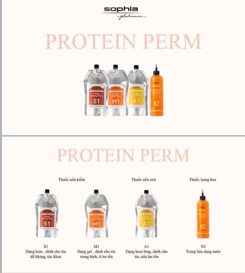Thuốc uốn đa năng Sophia Platium Protein chống nát tóc M1