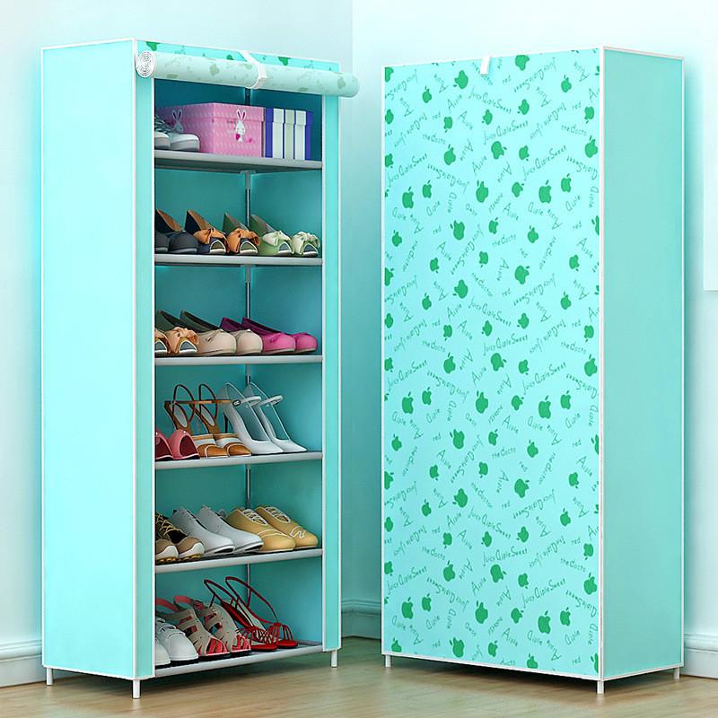 Kệ để giày dép 7 tầng màu xanh (Họa Tiết Ngẫu Nhiên)