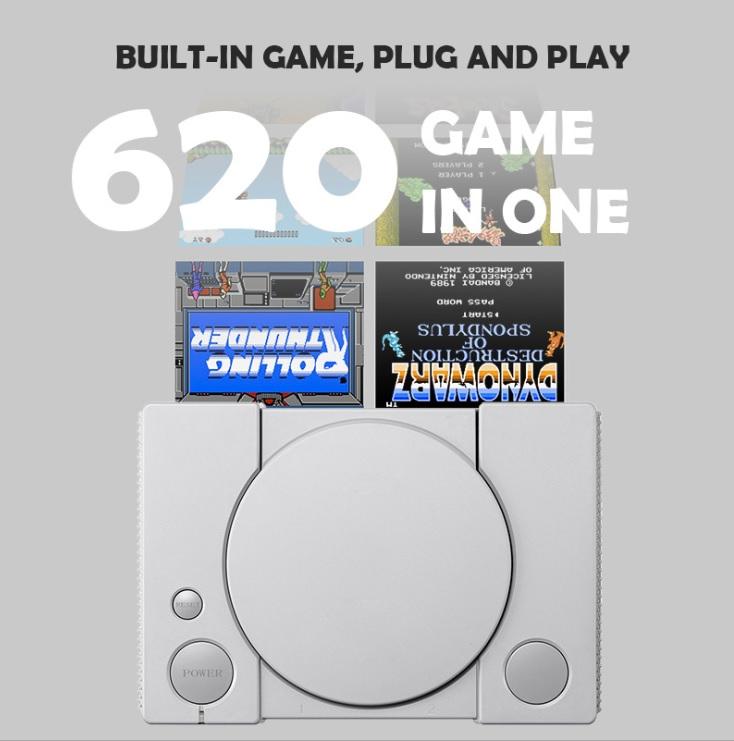 Máy chơi game mini điện tử 4 nút AV tích hợp 620 trò chơi