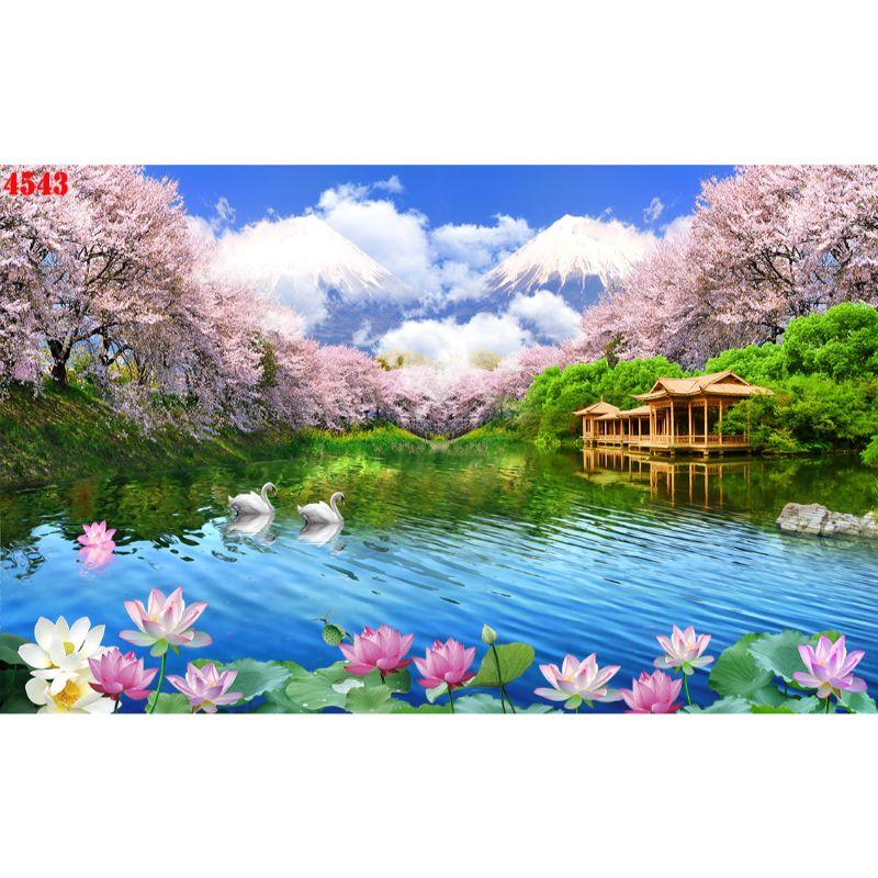 Tranh Dán Tường 3D Phong Cảnh - Có Sẵn Keo - TPCA206