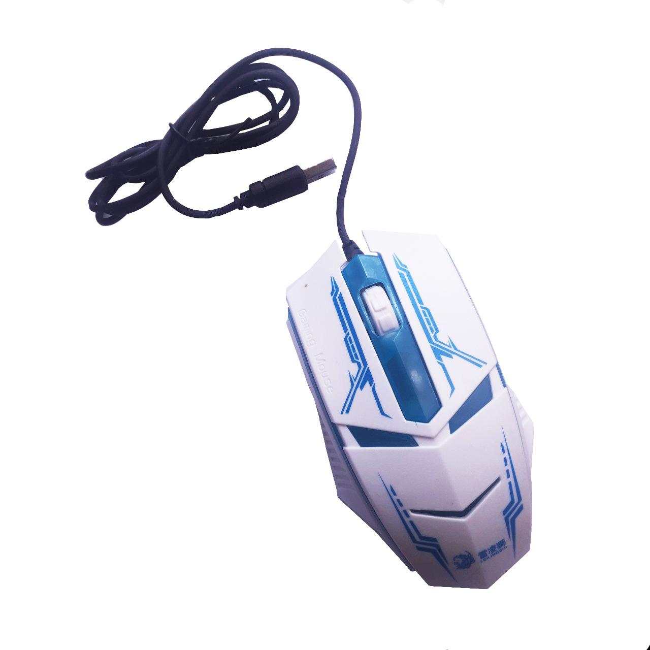 Chuột quang chơi game gaming mouse - Màu trắng