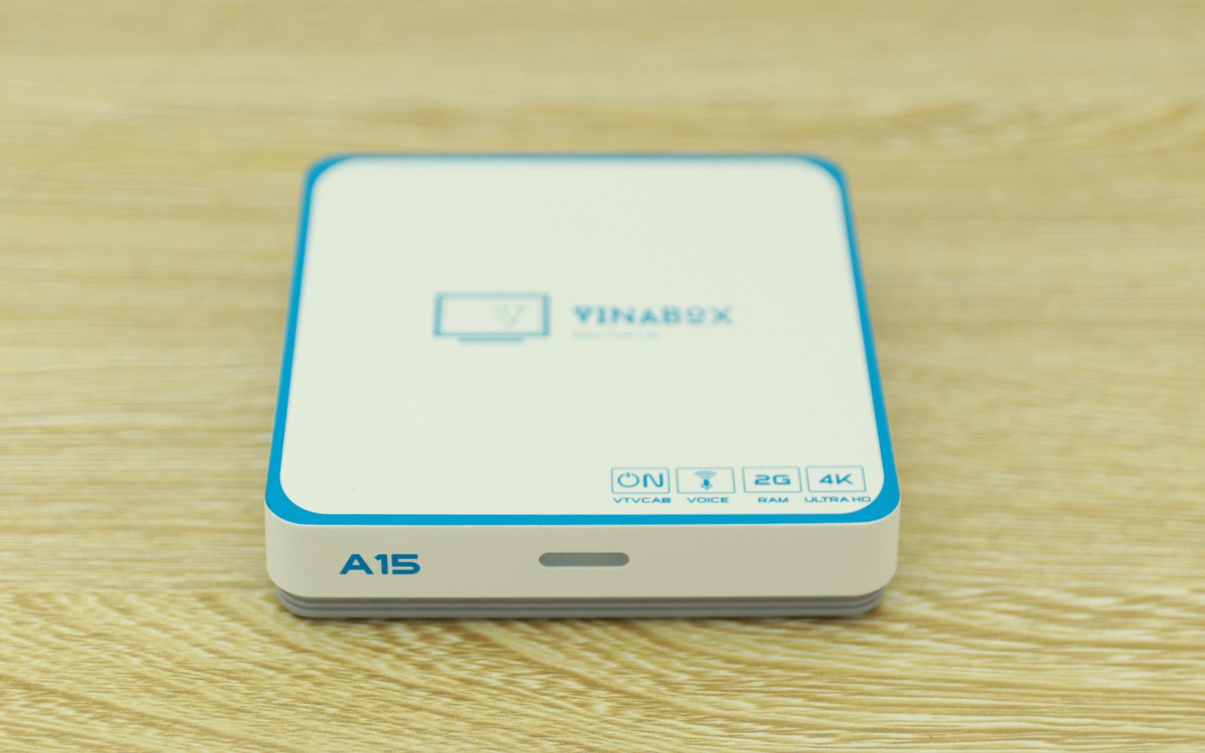 Android TV Box Vinabox A15 2020 Có Điều khiển giọng nói Ram 2G/ Rom 16G - Hàng Chính Hãng