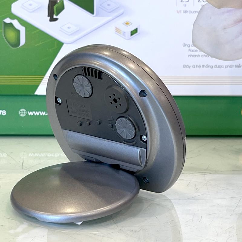 Đồng hồ báo thức Nhật Bản Rhythm CGE601NR08 - Kt 8.1 x 7.2 x 2.3cm, 45g