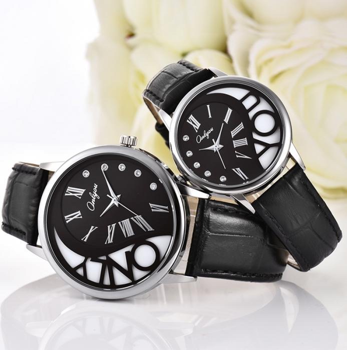 Đồng hồ Onlyou Nam 8888GB Dây Da 40mm