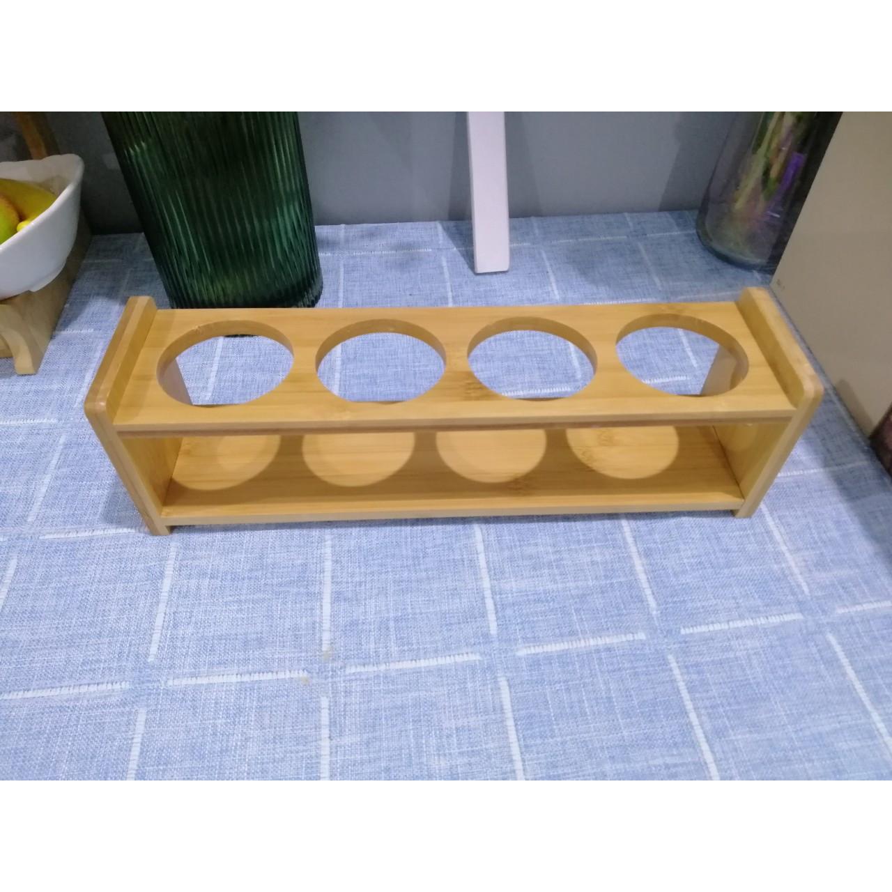 Khung gỗ gia vị 4 ô tròn