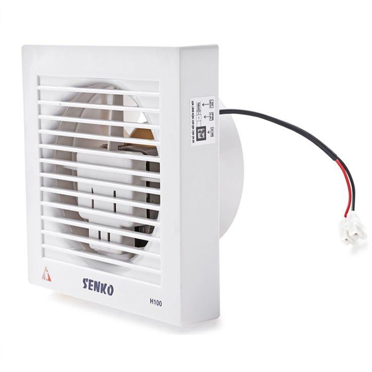 Quạt hút thông gió 1 chiều âm tường cao cấp Senko H100 - 25W (Hàng Chính Hãng)