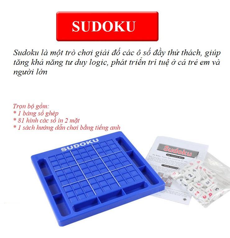 Bộ Đồ Chơi Sudoku Phát Triển Trí Tuệ Cho Trẻ SP0124 - Tặng kèm vòng tay màu sắc ngẫu nhiên cho trẻ