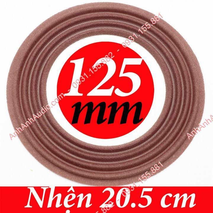 Nhện loa bass lổ coil 125 mm vành 20.5 cm màu NÂU loại tốt