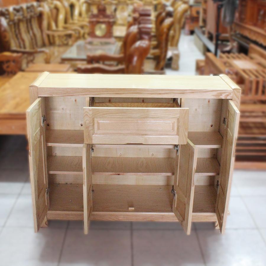 Tủ giày gỗ sồi 4 cánh