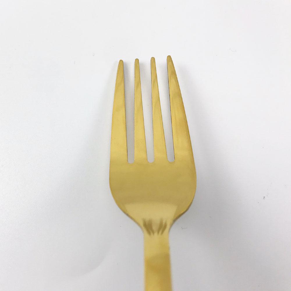 Dĩa inox SUS304 mạ vàng thiết kế theo kiểu phong cách Châu Âu cán phủ sơn nhung cao cấp(giao màu ngẫu nhiên)  Gelife SRV01051