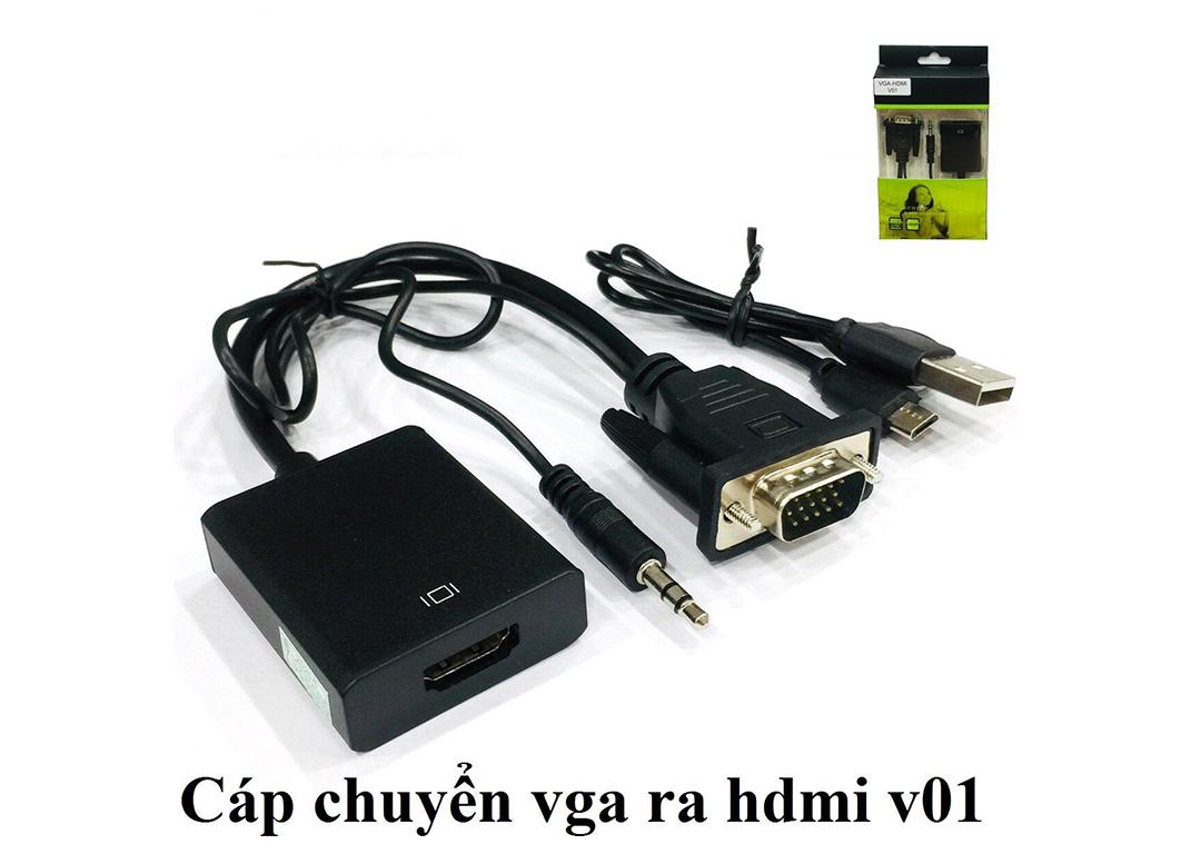 Cáp Chuyển Đổi - Dây Cáp Chuyển Đổi VGA ra HDMi AV Có Âm Thanh - Hàng Xịn, Chất Lượng Tốt