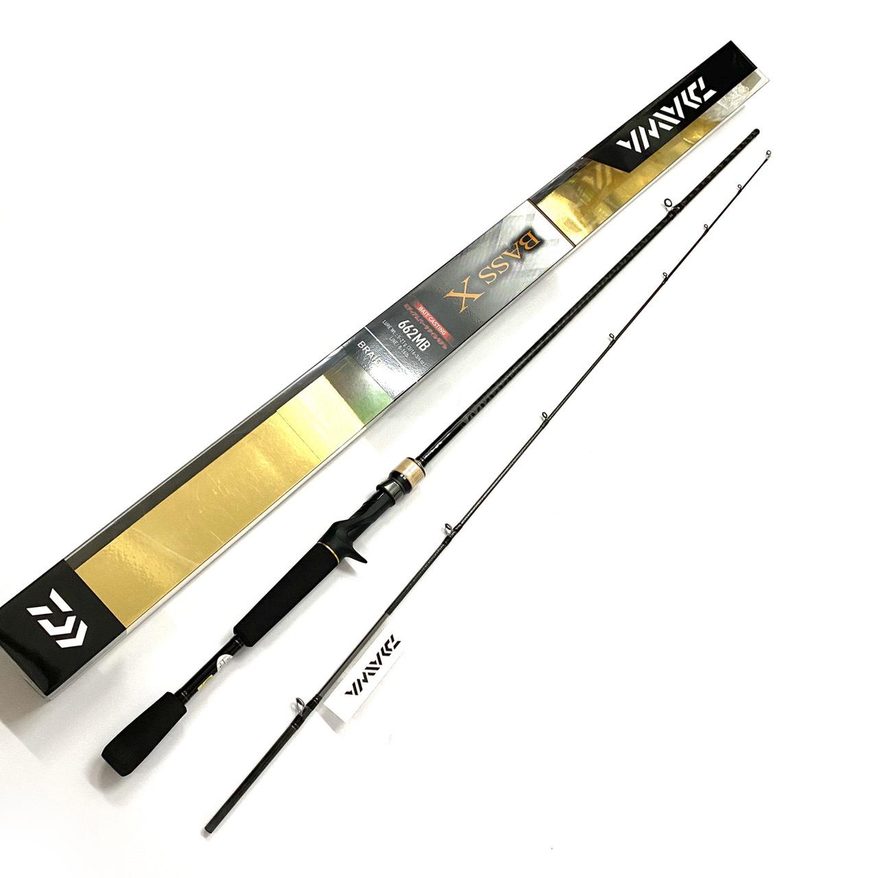 Cần câu cá Daiwa Bass X 662MB, cần lure máy ngang 1m98 khoen pat fuji