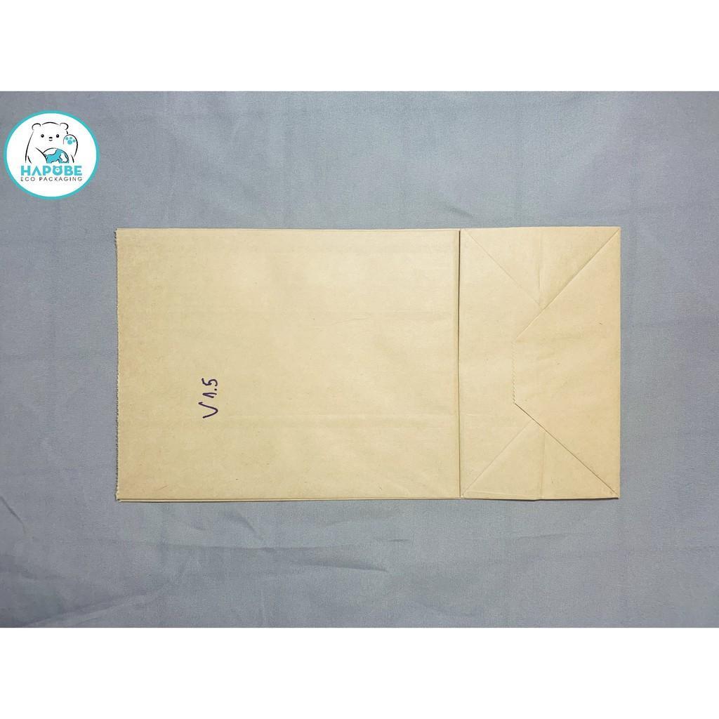 100 Túi giấy kraft nhật K2032 không quai 13x8x24cm