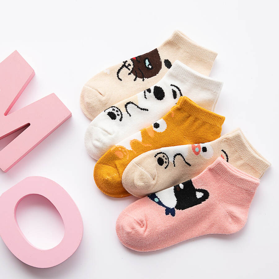 Antarctic new childrens socks boys and girls in the tube cotton socks baby baby socks children spring and autumn seasons socks cute cartoon XL 6-8 years old socks 16cm