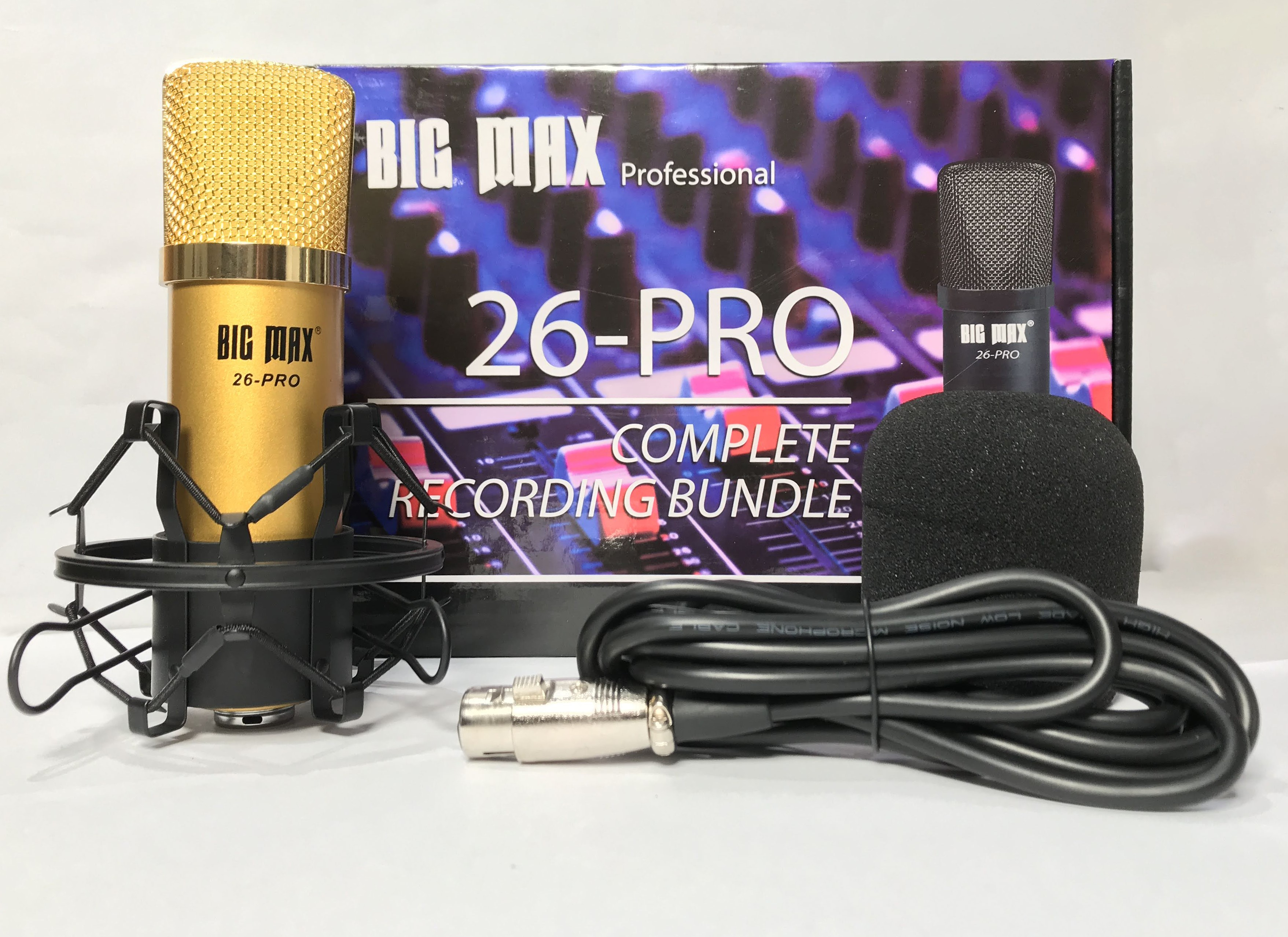 Micro thu âm cao cấp Big Max 26 pro - Mic thu âm hát karaoke online chuyên nghiệp - Chống hú, chống nhiễu, xứ lí tạp âm cực tốt - Giao màu ngẫu nhiên - Hàng chính hãng