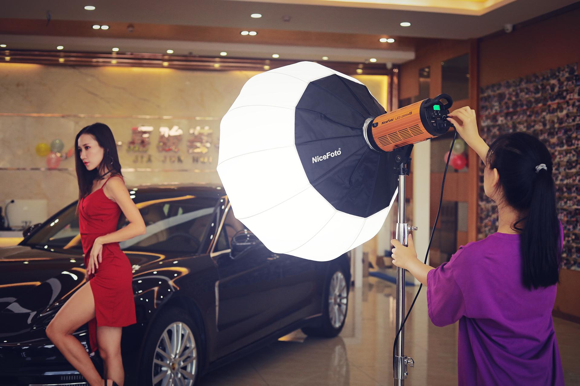 Đèn LED quay phim 2 mầu NiceFoto LED-2000A II - Hàng Chính Hãng