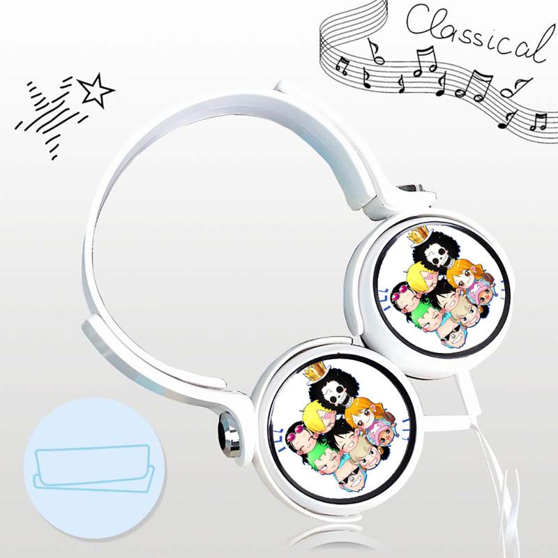 Tai nghe One Piece thiết kế thông minh cá tính cắm dây có mic anime chibi