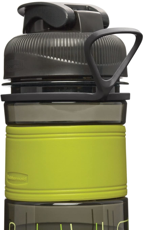 Bình đựng nước Rubbermaid 600ml cao cấp màu vàng chanh