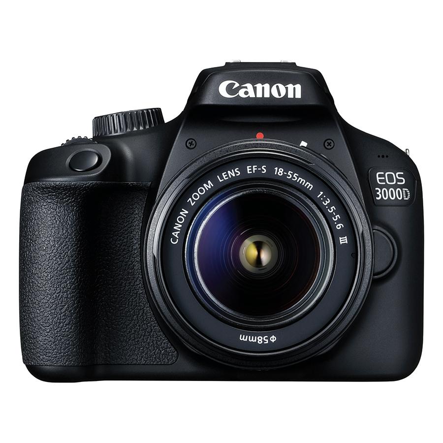 Máy Ảnh Canon EOS 3000D + Lens EF-S 18 - 55mm III - Hàng Chính Hãng (Tặng Kèm Thẻ Nhờ Và Túi Đựng Máy Ảnh)