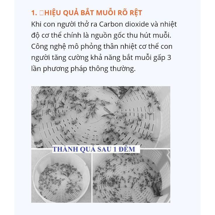 ĐÈN BẮT MUỖI THẾ HỆ MỚI - Máy diệt muỗi thu hút côn trùng UV sóng 368nm
