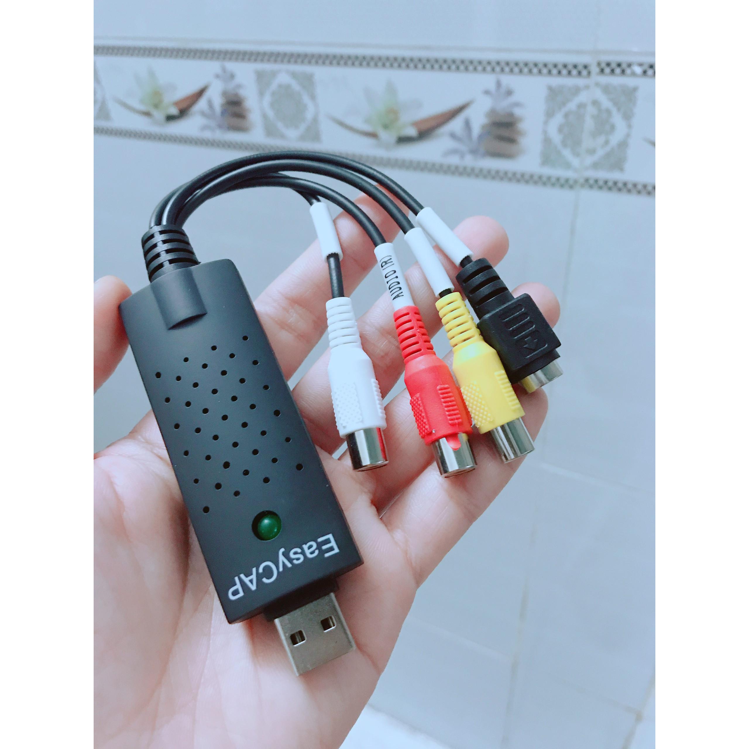 EASYCAP Chuyển từ USB ra AV - Svideo, Lưu hình từ Camera- HÀNG NHẬP KHẨU