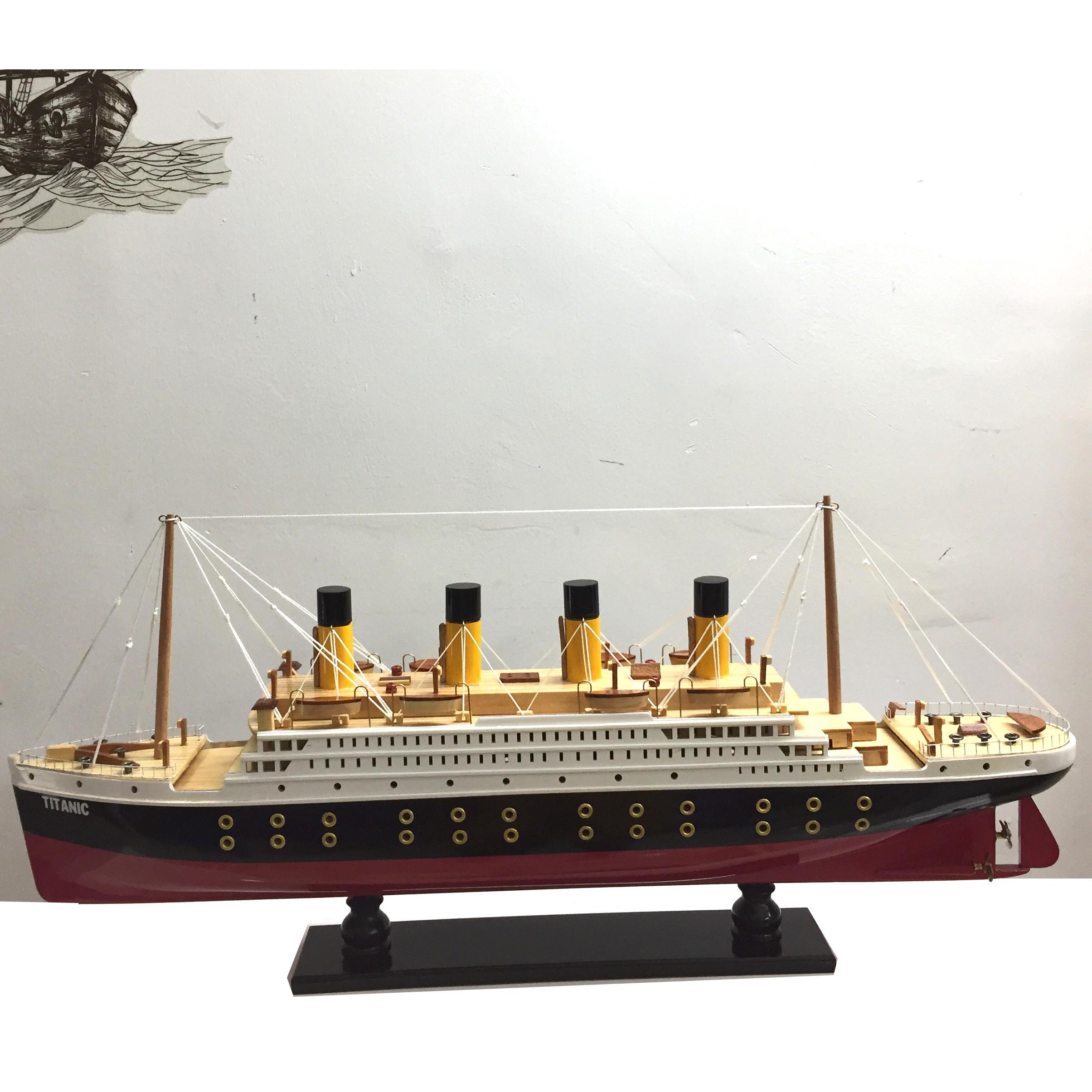 Mô Hình Du Thuyền Gỗ RMS Titanic (Thân 60cm - Gỗ Sơn)
