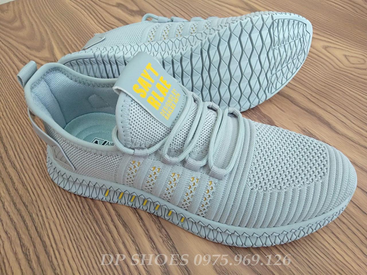 Xả giày thể thao nam màu ghi - giầy sneaker mẫu mới bền đẹp