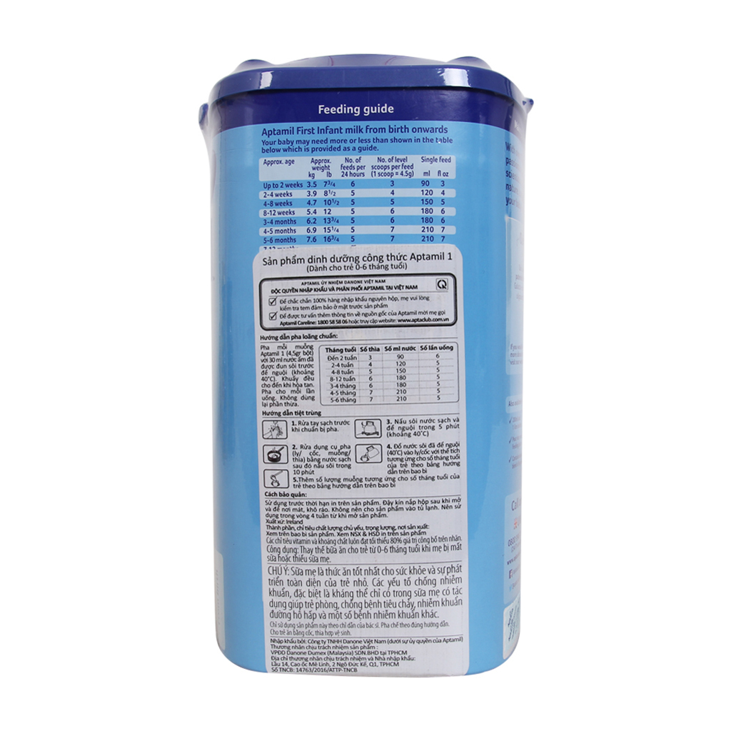 Sữa Bột Aptamil 2 Follow On Milk (900g)