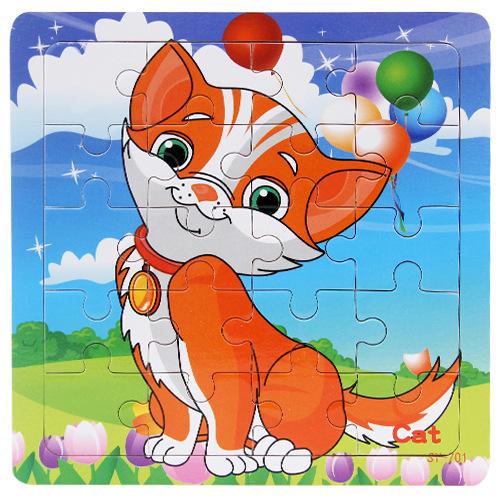 Combo 5 Tranh Ghép 20 Mảnh Bộ Chó, Mèo - Tặng 1 Túi Zip Đựng Mảnh Ghép