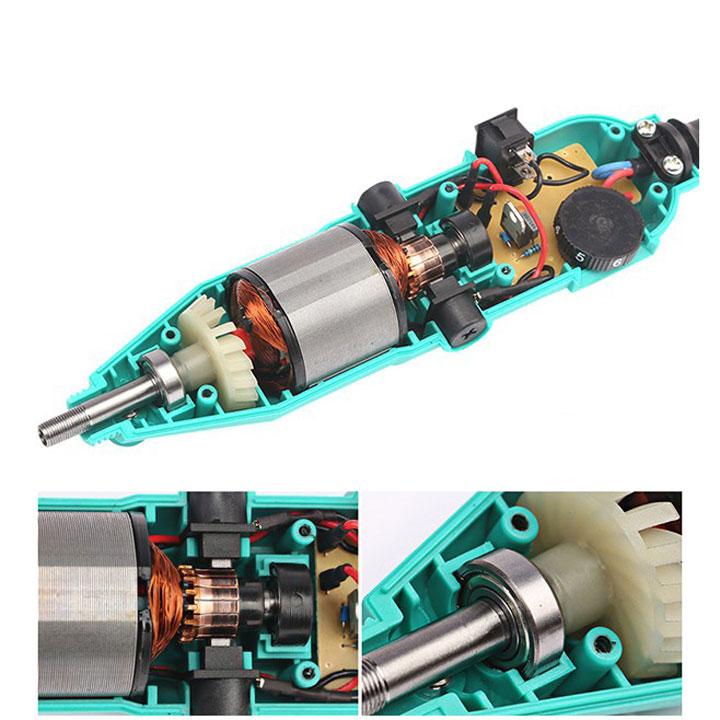 Bộ 2 máy khoan mai khắc và gần 350 phụ kiện lơn nhỏ tặng thêm 1 dây chuyển động là 2 dây - máy khoan mài khắc mini đa năng