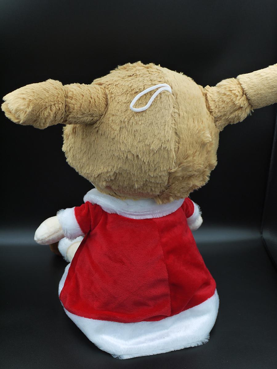 Búp Bê Nhồi Bông Hai Bím Tóc Siêu Dễ Thương 55 cm (Tặng kèm móc khóa da bò thật màu ngẫu nhiên)  BA00139