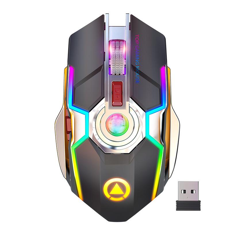 Chuột Gaming Bluetooth Sạc Pin e-sports, Led 7 màu - Tặng lót chuột siêu đẹp