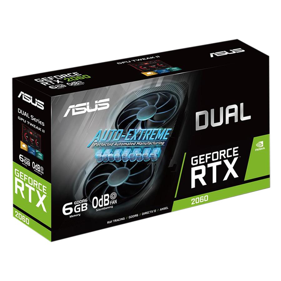 Card Màn Hình VGA ASUS DUAL-RTX2060-6G-EVO GDDR6 6GB 192-bit - Hàng Chính Hãng