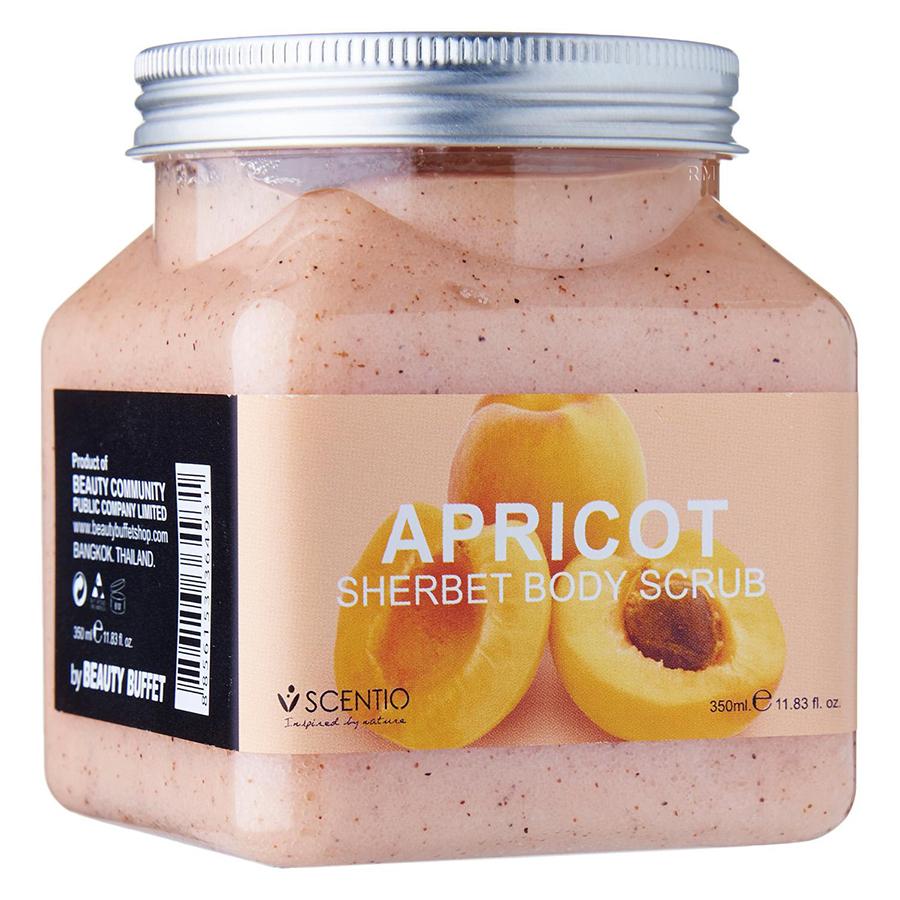 Tẩy Tế Bào Chết Toàn Thân Dưỡng Ẩm, Làm Mịn Và Trẻ Hoá Da Beauty Buffet Scentio Apricot (350ml)