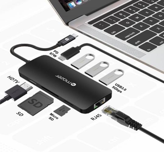 Cổng Chuyển Đổi Mazer USB-C 8-in-1 HUB To HDMI 4K - hàng chính hãng