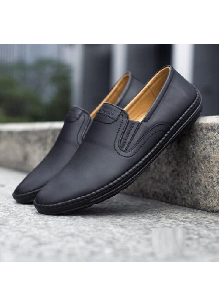 Giày Lười Nam Da Bò Thật Đế Khâu Chắc Chắn GN52