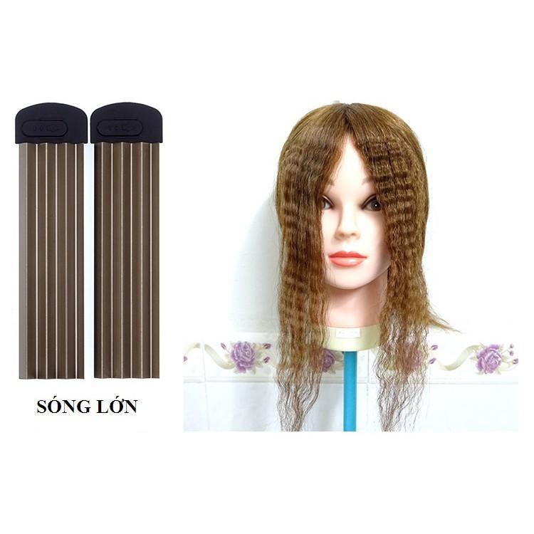 Máy uốn, duỗi, bấm xù tóc 4 in 1 có 4 mức chỉnh nhiệt PRO (Màu tím)