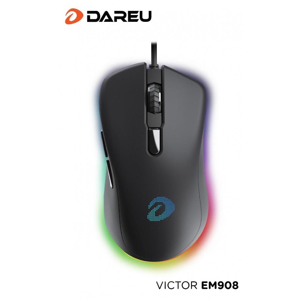 Chuột Máy Tính Có Dây Gaming Dareu EM908 (LED RGB, BRAVO sensor) - Hàng Chính Hãng