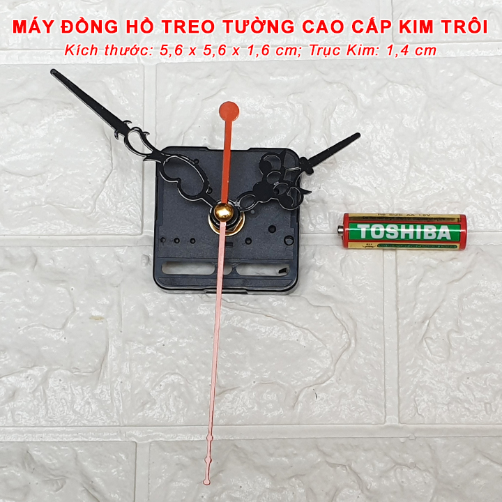 Máy Đồng Hồ Kim Trôi Cao Cấp Eastar + Bộ Kim Hoa Văn và Pin Toshiba