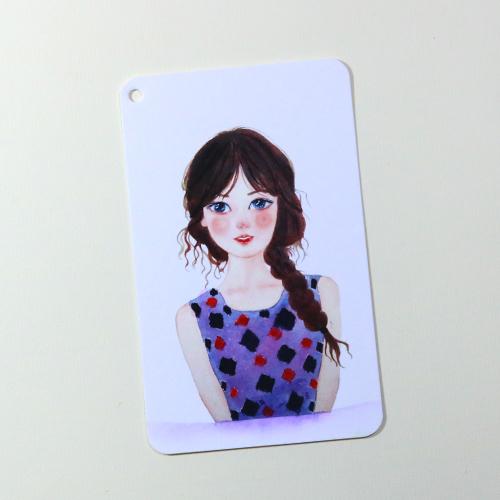 Giấy vẽ màu nước - Postcard 40 tờ giấy dày khổ (8 x 13) cm, vẽ đẹp cả chì và các loại bút màu