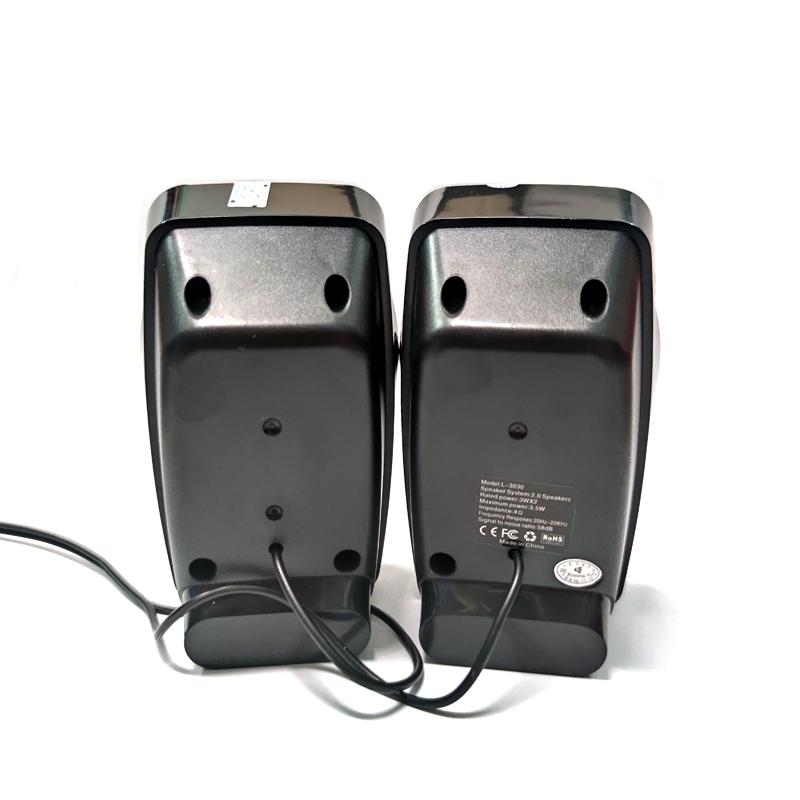Loa vi tính Kisonli L-3030 có đèn led - bass mạnh (Đen) HÀNG CHÍNH HÃNG
