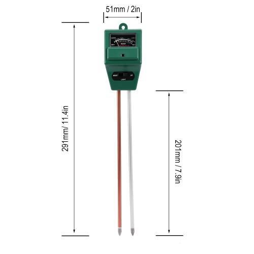 Máy đo, dụng cụ đo độ PH đất 3 trong 1 (PH, Độ ẩm, Ánh sáng) vuông