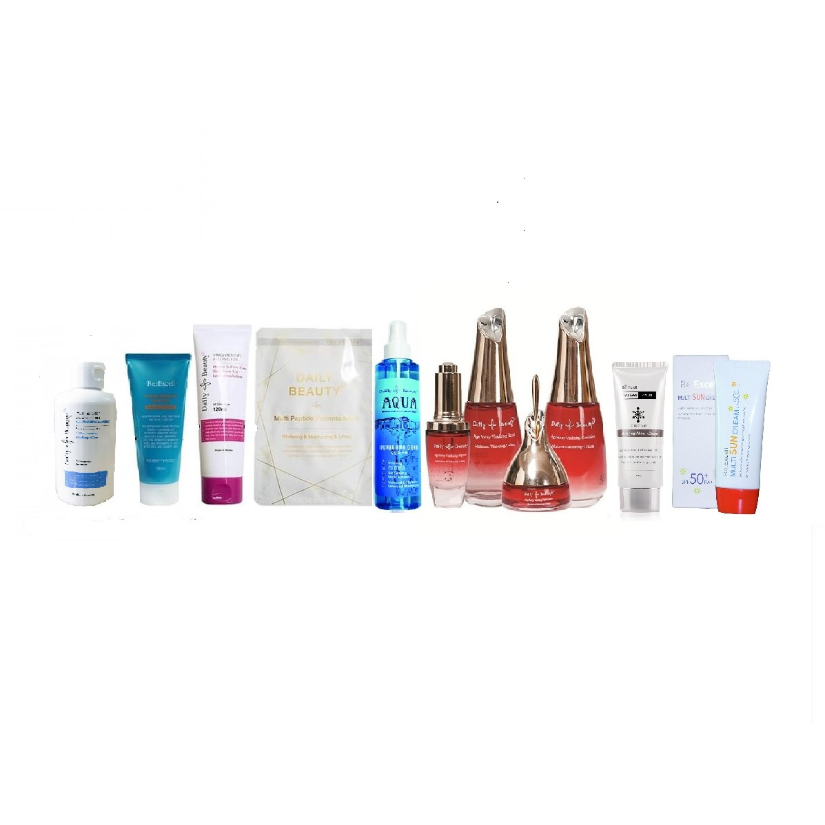 Bộ mỹ phẩm chăm sóc da khô Daily Beauty R&B Việt Nam nhập khẩu chính hãng LB Cosmetic Hàn Quốc, dưỡng ẩm, làm trắng, xóa nhăn, mờ nám tàn nhang, chăm sóc da khô toàn diện
