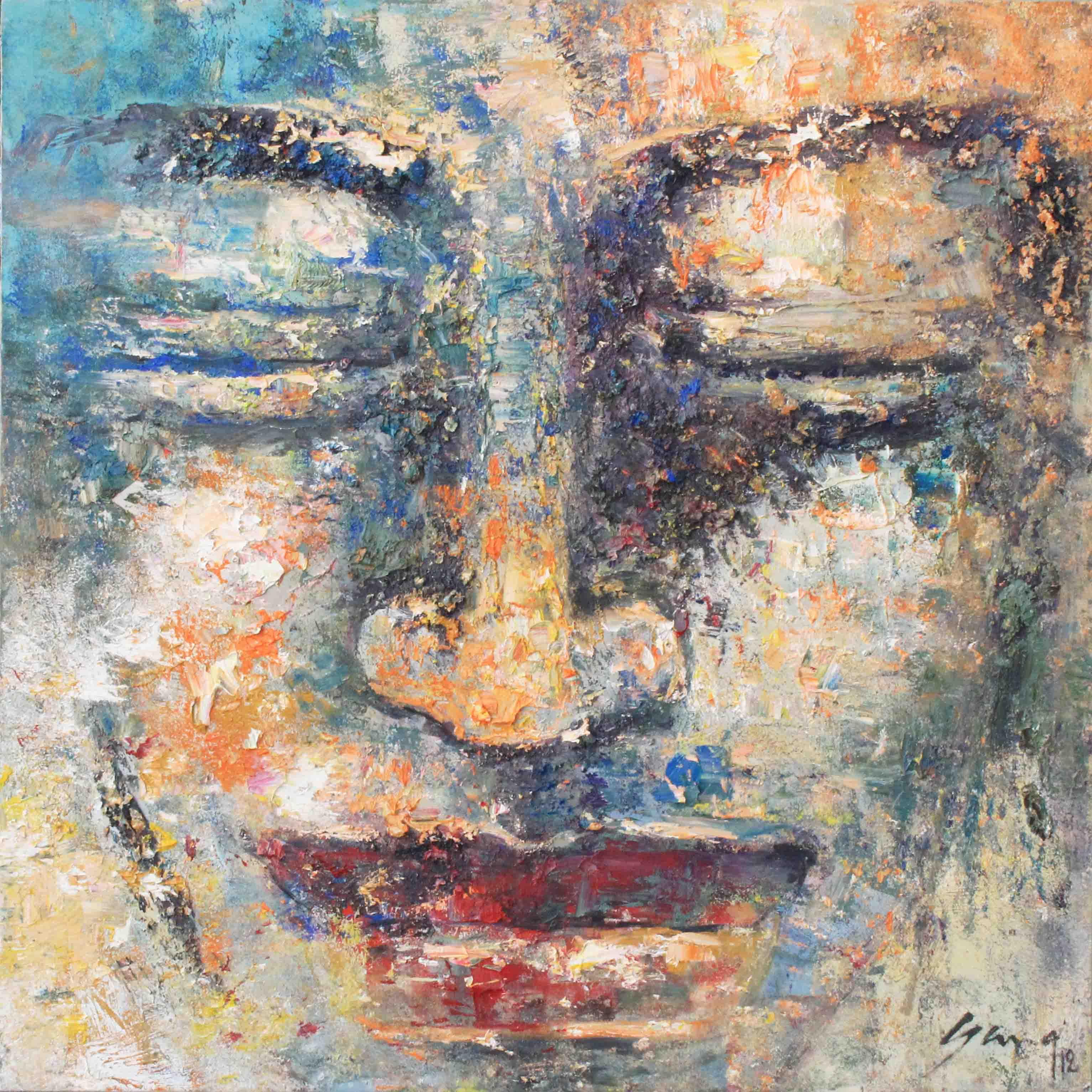 Tranh vẽ sơn dầu Đức Phật