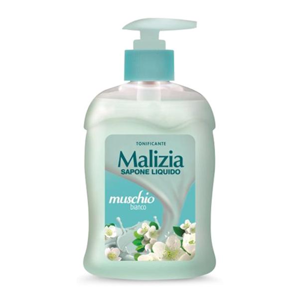 Nước rửa tay xạ hương trắng Malizia Liquid Soap White Musk 300ml tặng kèm móc khóa