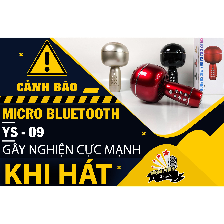Micro karaoke kèm loa bluetooth YS 09 - Micro không dây hiệu ứng hay âm thanh chuẩn mic hút siêu phẩm mới 2021 - Giao màu ngẫu nhiên - Bảo hành 12 tháng