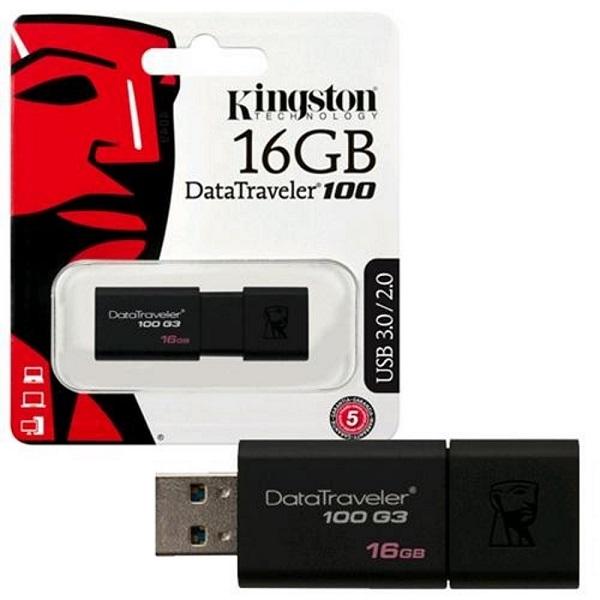 USB Kingston DT100G3 16GB USB 3.0 - Hàng Chính Hãng + Tặng Đèn Led